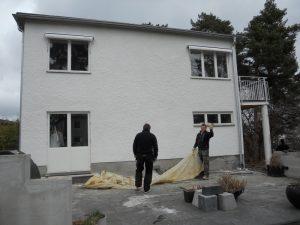 Efter fasadrenovering, Täby
